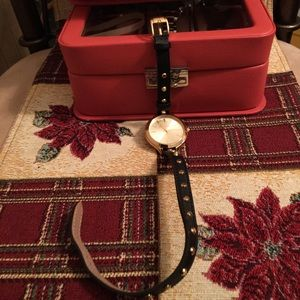 MICHAEL KORS NWOT AUTHENTIC BROWN LEATHER WATCH